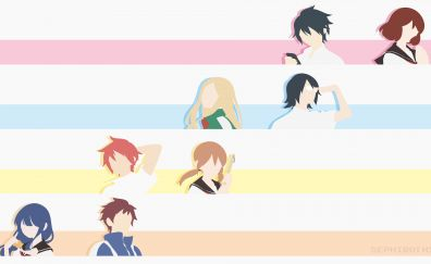 Tsurezure Children, anime, minimal, 4k