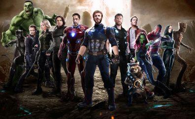 Team of superheroes, movie, avengers: infinity war