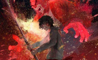 The Boy and the Beast, anime, movie, 5k