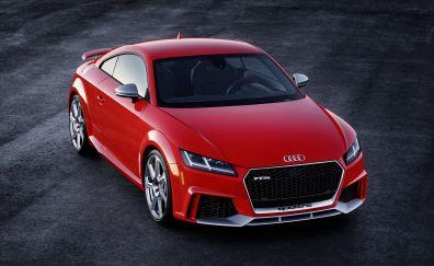 Red audi TT, sports car, front, 4k