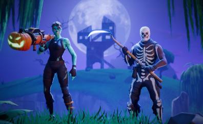 Fortnite Battle Royale, video game, halloween, multiplayer