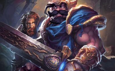 Video game, warrior, hearthstone: kobolds and catacombs, 4k