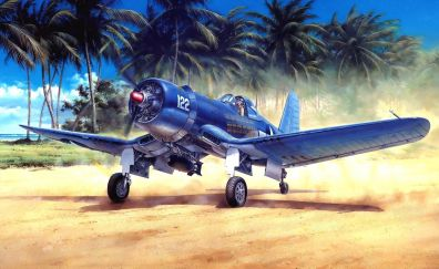 Vought F4U Corsair, aircraft, art