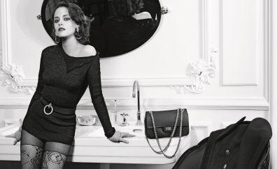 Black and white, Kristen Stewart, actress
