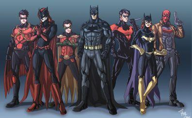 Bat family, superhero, 5k