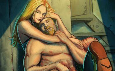 Green arrow, black canary, dc comics, romance