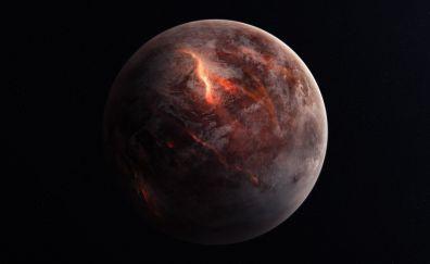 Planet destruction, space, 5k