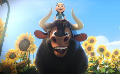 2017 movie, sunflowers, happiness, Ferdinand, movie