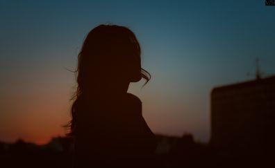 Evening, model, girl