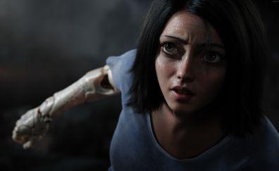 Rosa Salazar, Alita: Battle Angel, 2018 movie, 4k