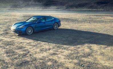 Porsche Panamera Turbo, blue