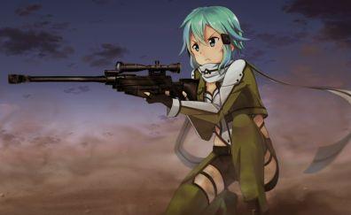SAO, Sword Art Online, Asada Shino, Sinon, anime girl