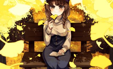 Autumn, original, anime girl, cute