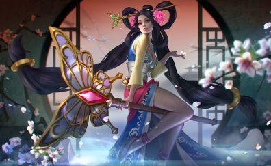 Celeste, vainglory, video game, long hair