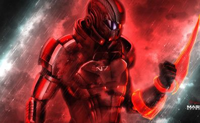 mass effect, N7, video game, solider, 4k