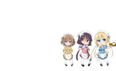 Minimal, anime girls, Maika Sakuranomiya, Mafuyu Hoshikawa, Kaho Hinata, BLEND S