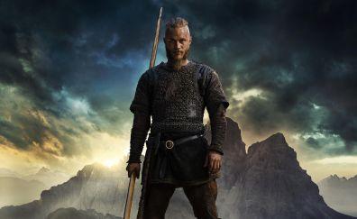 Vikings, tv show, Ragnar, Travis Fimmel, 4k