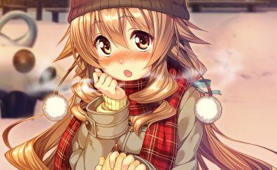 Koharu Hoshikawa, Amakano, cute anime girl