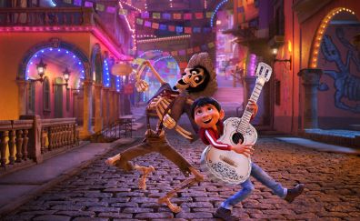 Coco, animated movie, ghost, dance