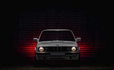 Bmw e30, classic car, front, 5k