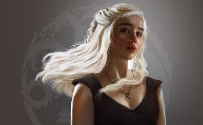 Daenerys Targaryen, blonde, fan art, game of thrones