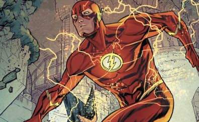 Flash, superhero, art, dc comics