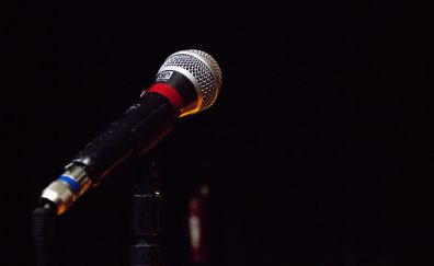Microphone, music show, close up