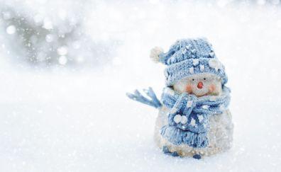 Snowman, winter, snow