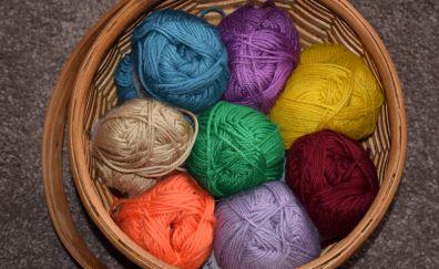 Wool in basket