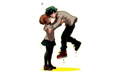 Ochako Uraraka, Izuku Midoriya and his friend, anime