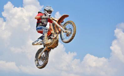Bike, air jump, motocross rider