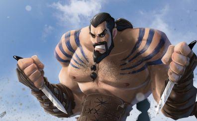 Drogo, Game of thrones TV show, art, warrior