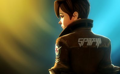 Tracer, jacket, overwatch, game, video game