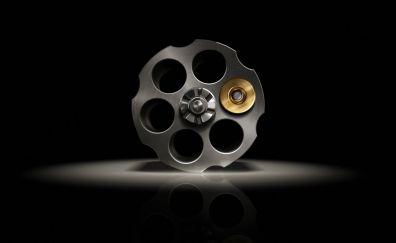 Gun roulette, bullet