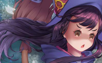 Long hair anime girl, Atsuko kagari, Little Witch Academia