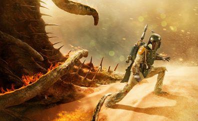 Boba Fett, Return of the Jedi, Star wars movie artwork