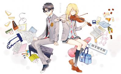 Shigatsu wa kimi no uso anime wallpaper