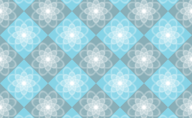 White light blue gray floral pattern, abstract
