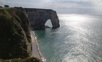 Etretat Cliff, nature, beach, sea