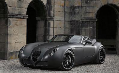 Wiesmann GT MF5, gray, side view, luxury car