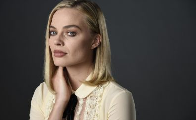 Margot robbie, portrait, actress, model, 4k
