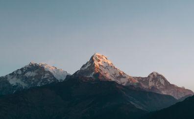 Annapurna Massif, mountains, nepal, skyline, 4k