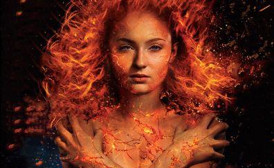 Sophie turner, x-men: dark phoenix, 2018 movie