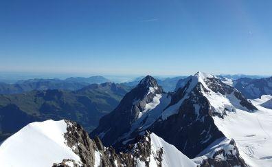 Eiger, mountains, skyline, Switzerland, nature