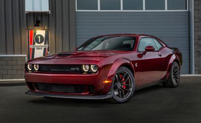 Dodge challenger SRT, muscle car, front view