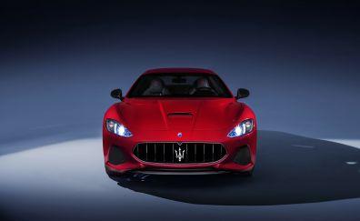 Maserati GranTurismo, luxury car, red car, 4k