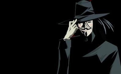V for Vendetta, anonymous, 2005 movie, mask, art