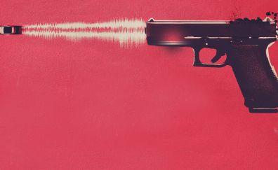 Baby driver, gun fire, minimal
