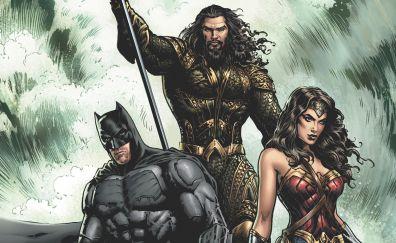 Aquaman, batman, wonder woman, superhero, comics