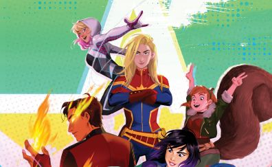 Marvel Rising: Secret Warriors, animated movie, 2018, 4k